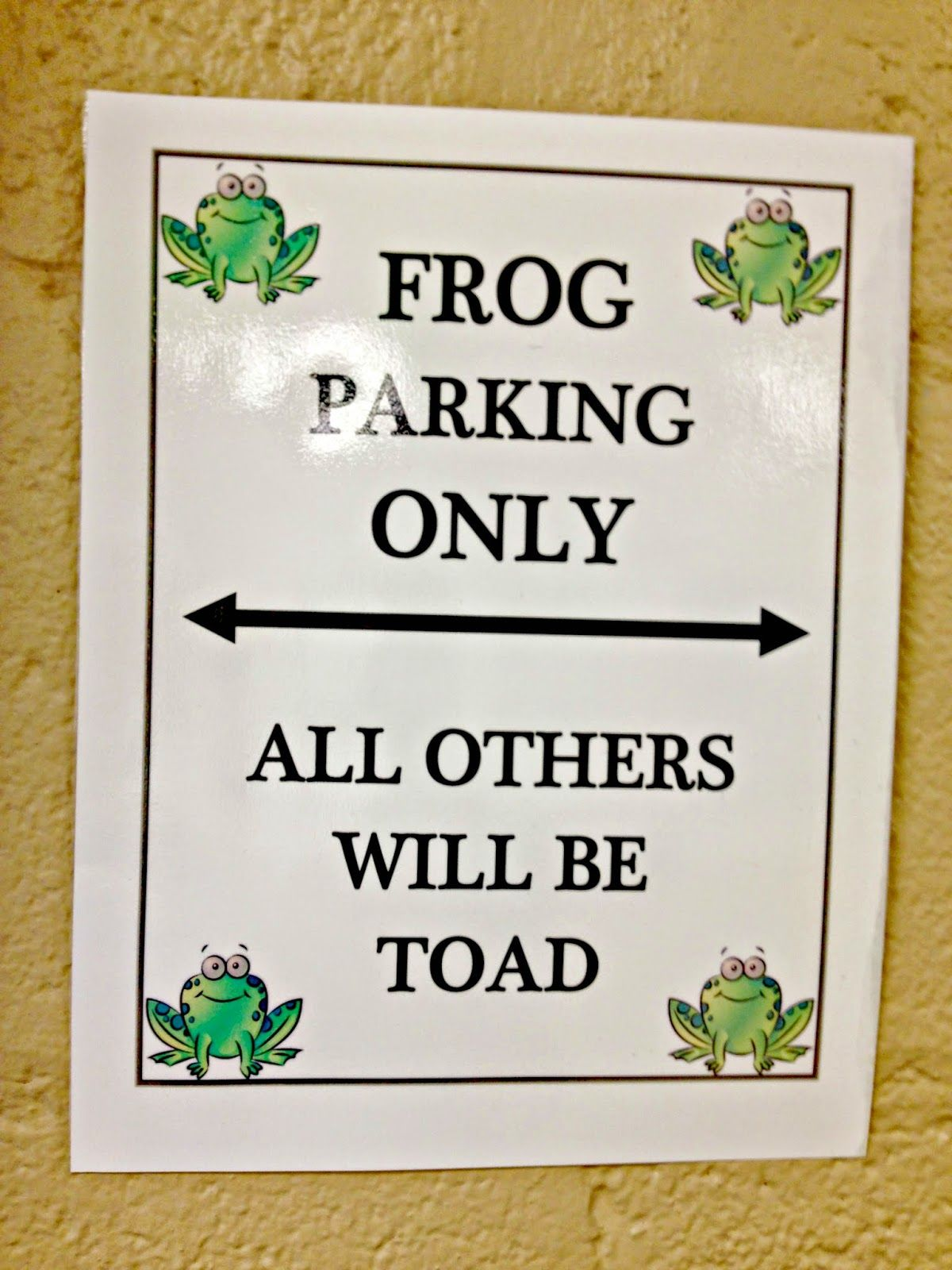 Frog Fully Rely On God Frog Parking All Others Will Be