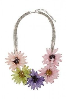 bf459e4cafb84 Topshop UK Oversized Flower Collar Necklace | Fashion Love | Fashion ...