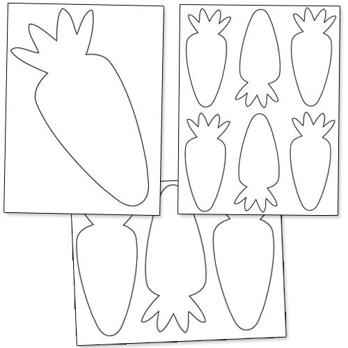photograph regarding Carrot Printable named Printable Carrot Template Preschool Easter Crafts, Bunny