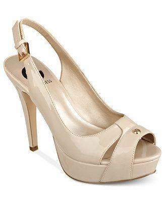 dbe1ddb7ba9 G by GUESS Women's Cathy Slingback Platform Pumps | Dress Shoes ...