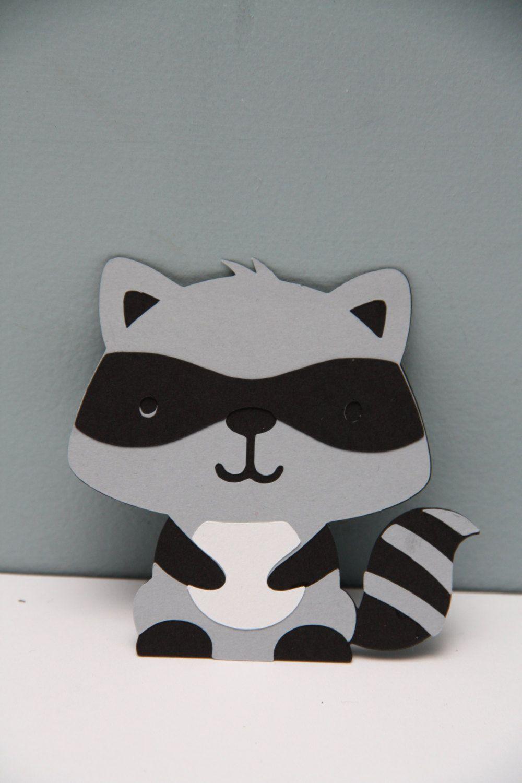 Cricut Raccoon Set Of 8 By Craftingcrew On Etsy Babies