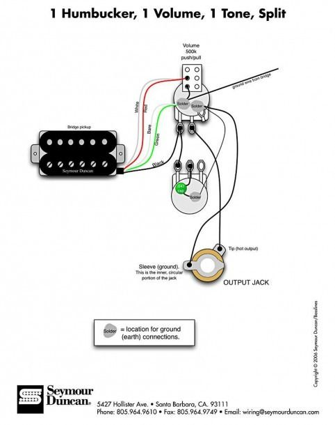 Seymour Duncan Coil Tap Diagram  With Images