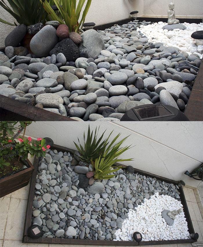 Galets gris clairs plats et galets blancs | Minis jardins tendances ...