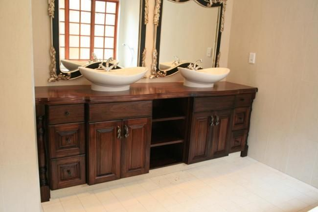 Unique Bathroom Vanities Solid Mahogany Twin Vanity
