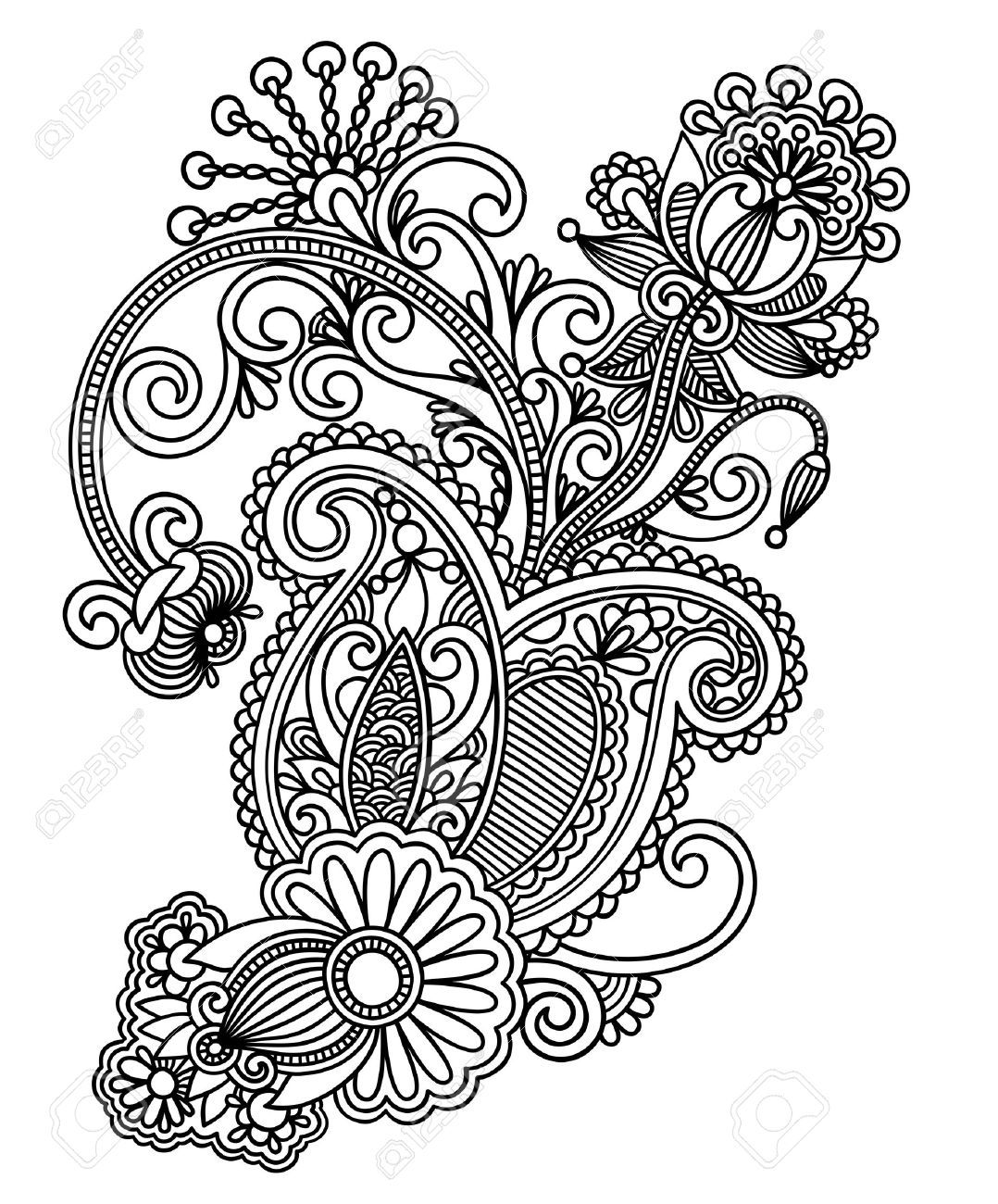 Line Drawing Flower Designs : Aztec floral design google search tattoo ideas