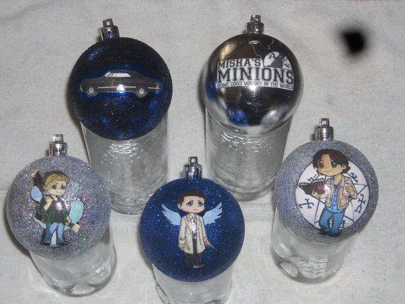 Supernatural Nerdy Christmas Ornaments by NerdStyle on Etsy, $6.00 Supernatural  Christmas Ornaments!!! Oh yea!! - Supernatural Nerdy Christmas Ornaments By NerdStyle On Etsy, $6.00