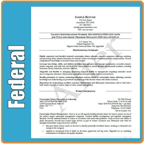 Federal Job Resume Cover Letter Resume Examples Pinterest