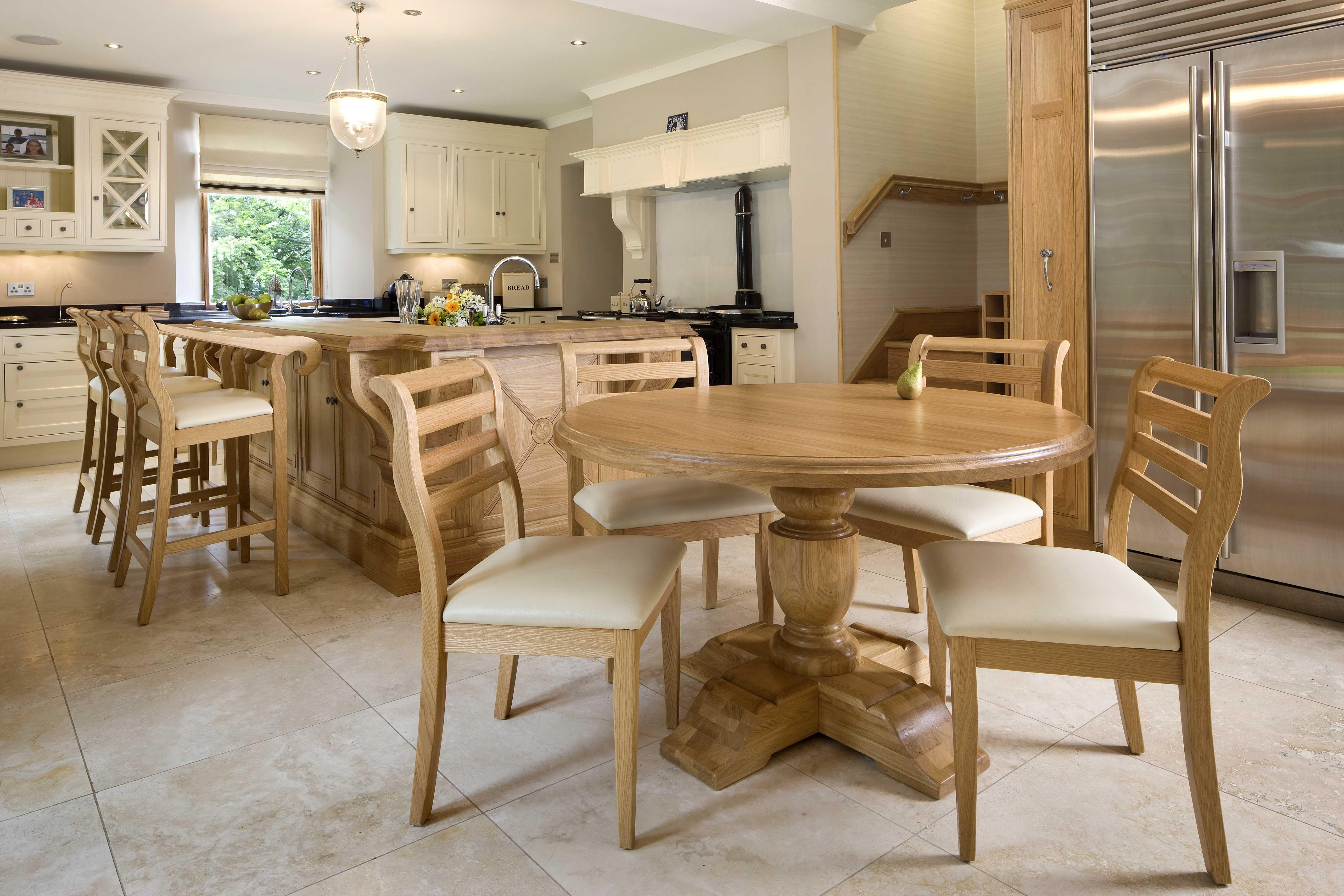 Awe Inspiring Bespoke Solid Oak Table To Match A Clive Christian Kitchen Creativecarmelina Interior Chair Design Creativecarmelinacom