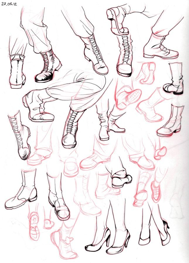 Chart Showing How To Draw Different Types Of Boots Plus Women S High Heels Drawings Drawing Tutorial Drawing Sketches