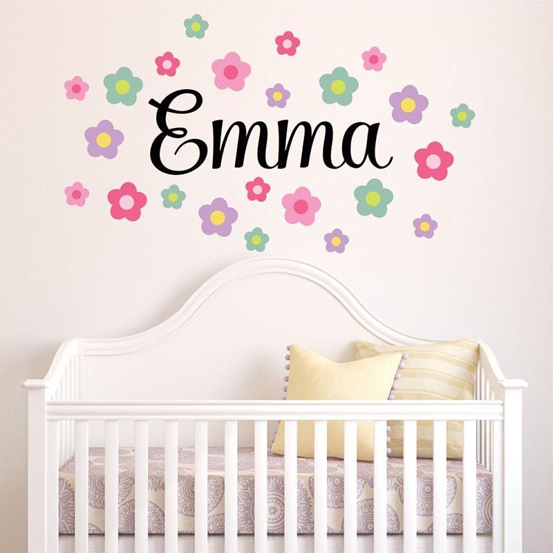 Day Only Use Coupon Code Sale Emma Flowers Personalized - Custom vinyl wall decals groupon