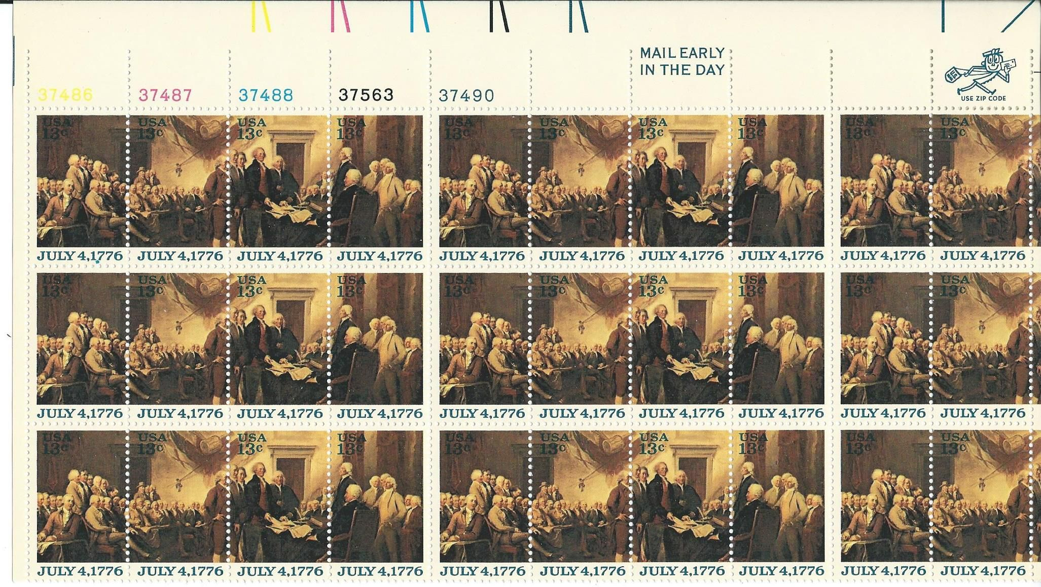 1691-1694 Declaration of Independence 13c 1976 -30ct