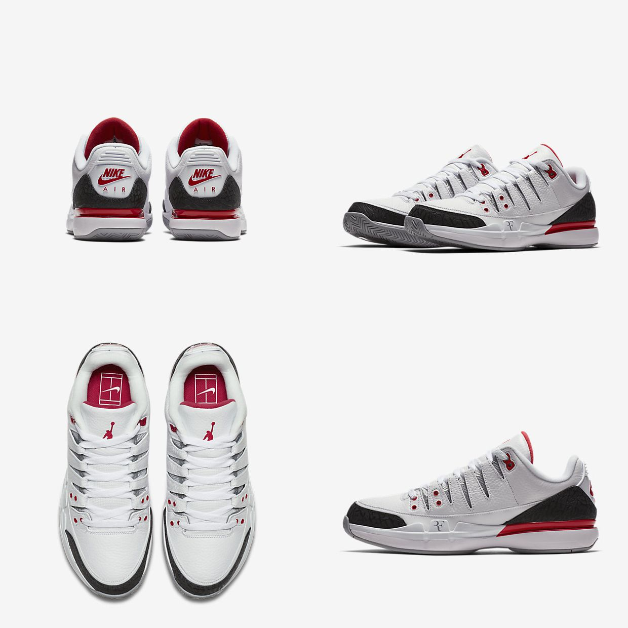 c9fc22359664 Tennis Fashion · Nike Zoom · Roger Federer · Michael Jordan · Two GOATs  come together in one shoe as Nike releases the 3rd iteration of the Nike