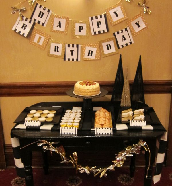 Recent Project Black Gold Birthday Party recreative works blog