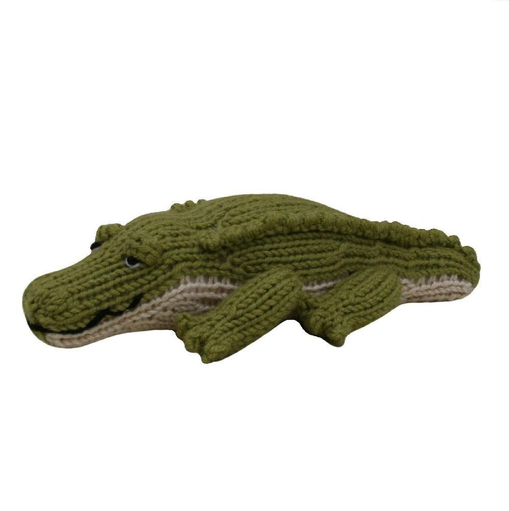 An easy to follow, delightful pattern for an adorable crocodile! The crocodile can be made cheaply out of oddments of double knitting yarn. The crocodile's head, body, and tail are knitted in one piece, so there's very little sewing to do to make up your crocodile; which is always a bonus!The knitting pattern has clear row by row instructions and photographs to help you along the way. You will need to be able to knit, purl, cast on and off, increase and decrease, change colours and sew…