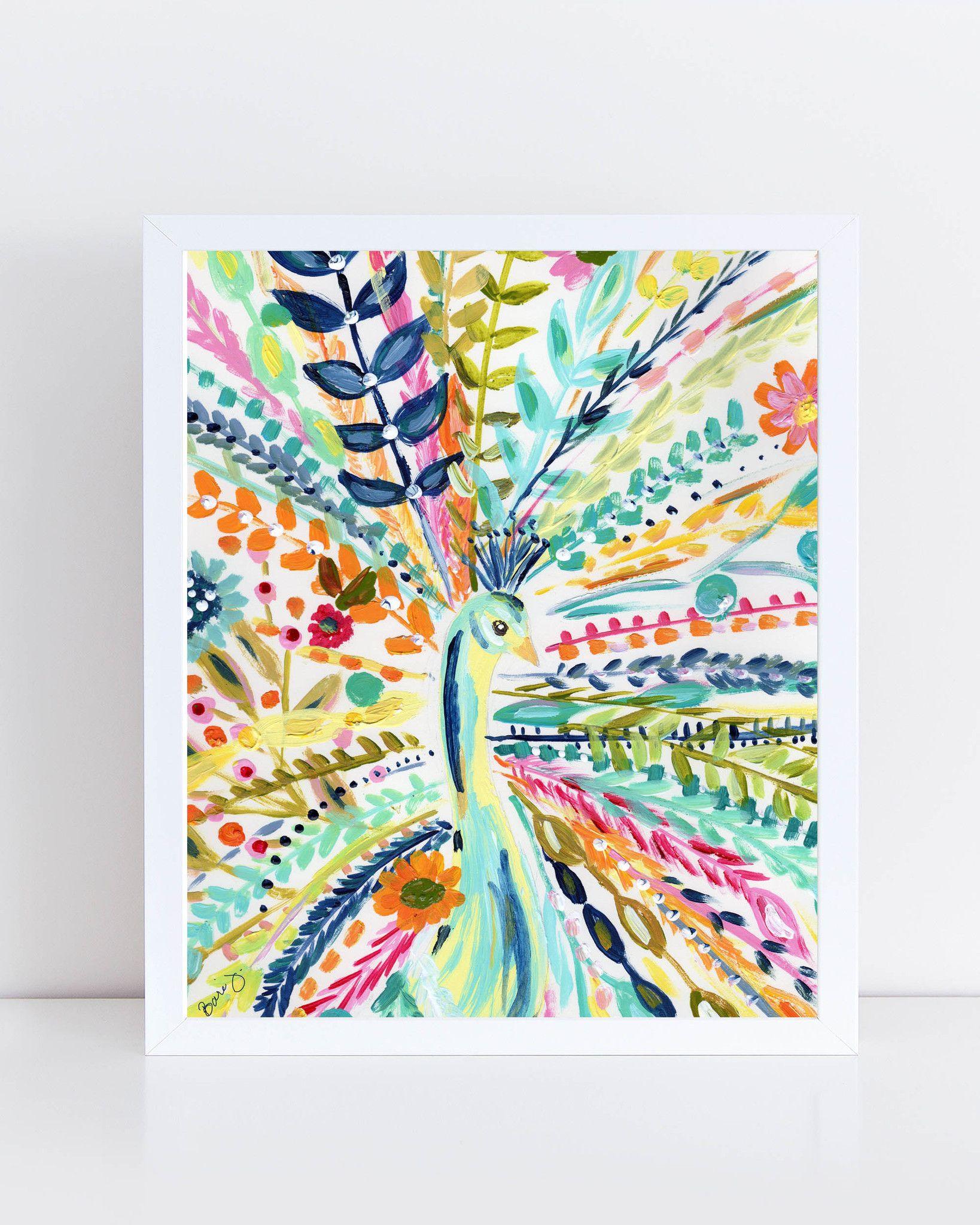 Boho Peacock Art Print Things For The Home Pinterest Art