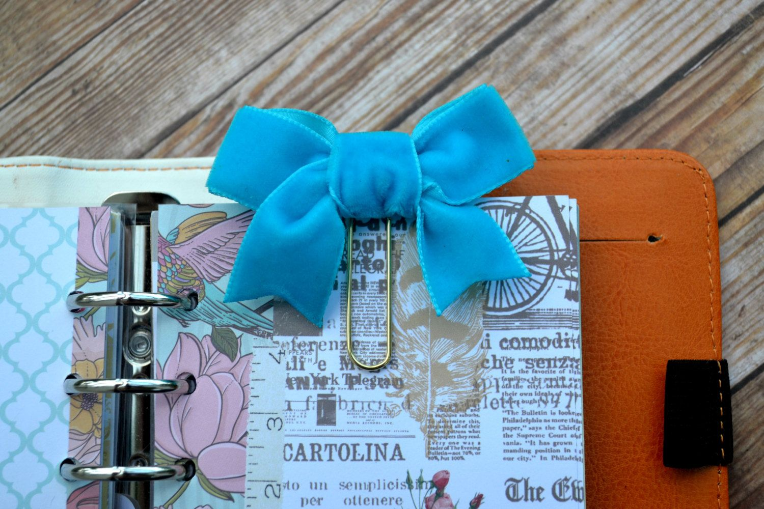 Planner Clip Paper Clip Bow Clip Flower Planner Clip Book Mark - pinned by pin4etsy.com
