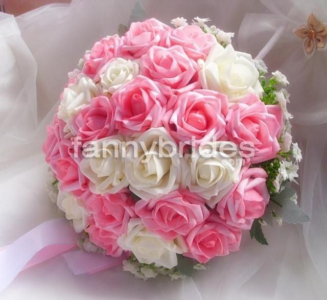 Wedding Bouquets White And Pink Rosescute Pure Pink With White Rose Wedding Bouquet Bridal