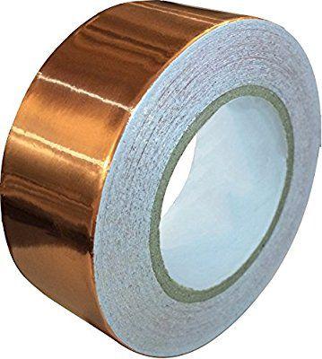 Amazon Com Copper Foil Tape With Conductive Adhesive 1inch X 12yards Slug Repellent Emi Shielding Stained Glass Copper Foil Tape Copper Tape Foil Tape