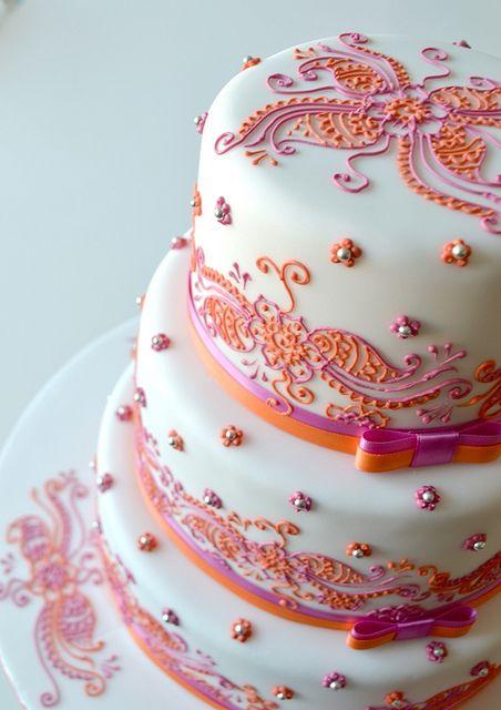 henna wedding cake henna design themed cake pinterest
