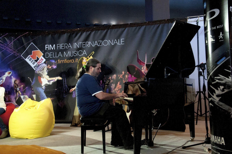 Massimo Morini (Buio Pesto) CASA FIM - La Casa dei Musicisti. FIM - Fiera Internazionale della Musica. 16/17/18 Maggio 2014. Fiera di Genova. www.fimfiera.it.