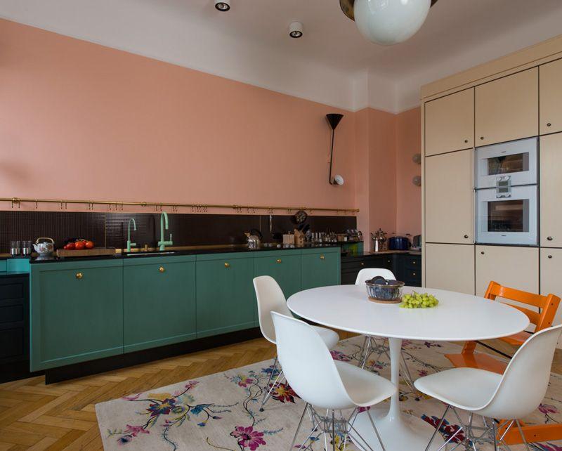 Mooie Eclectische Woonkeuken : Mooie kleurencombinatie in vintage keuken interieur inrichting