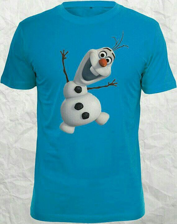 Frozen Olaf Smiley Face Junior T-Shirt