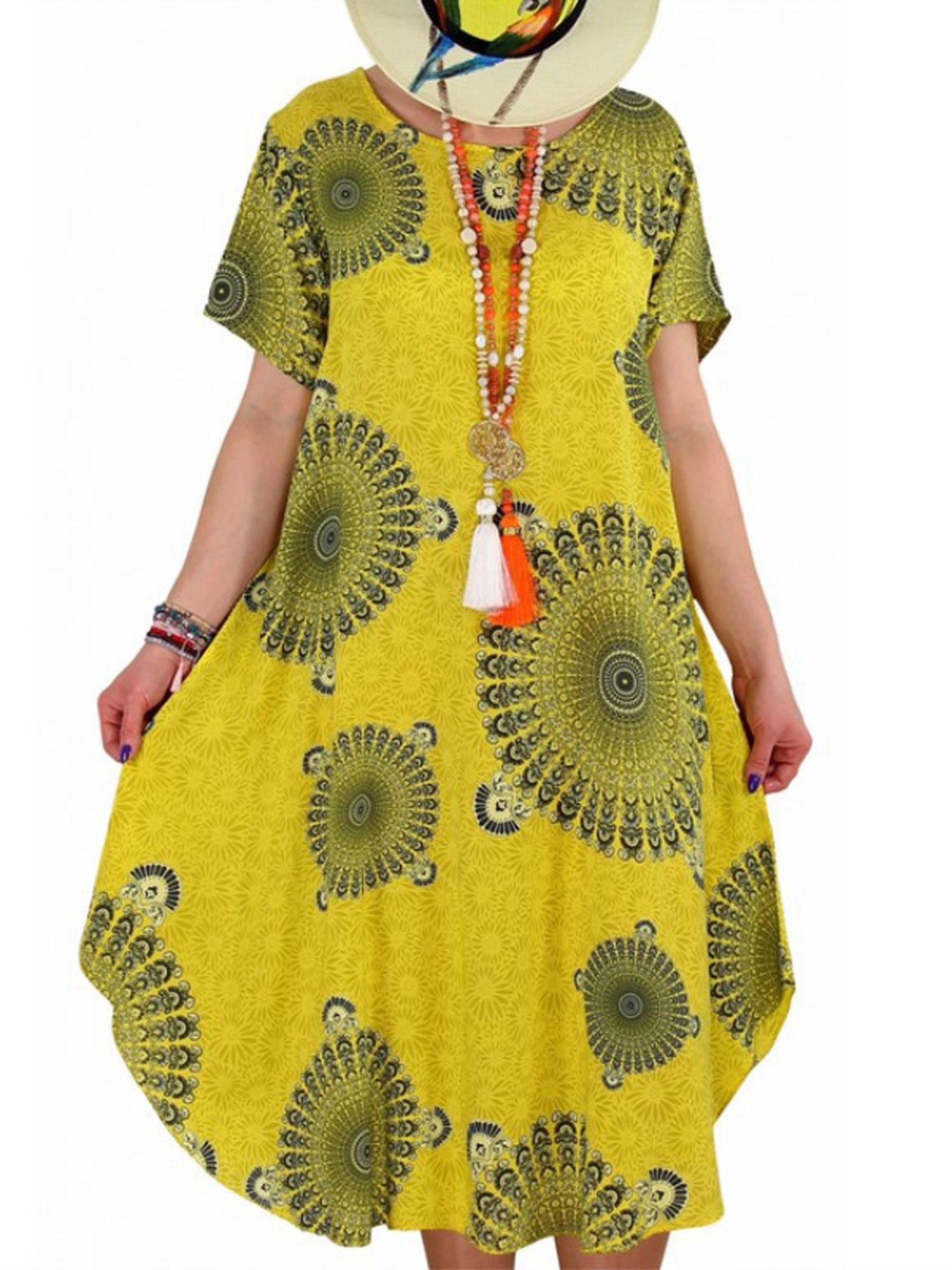 Lallc Plus Size Women Short Sleeve Floral Mini Dress Walmart Com Short Sleeve Dresses Color Block Tunics Casual Dresses For Women [ 2000 x 1500 Pixel ]