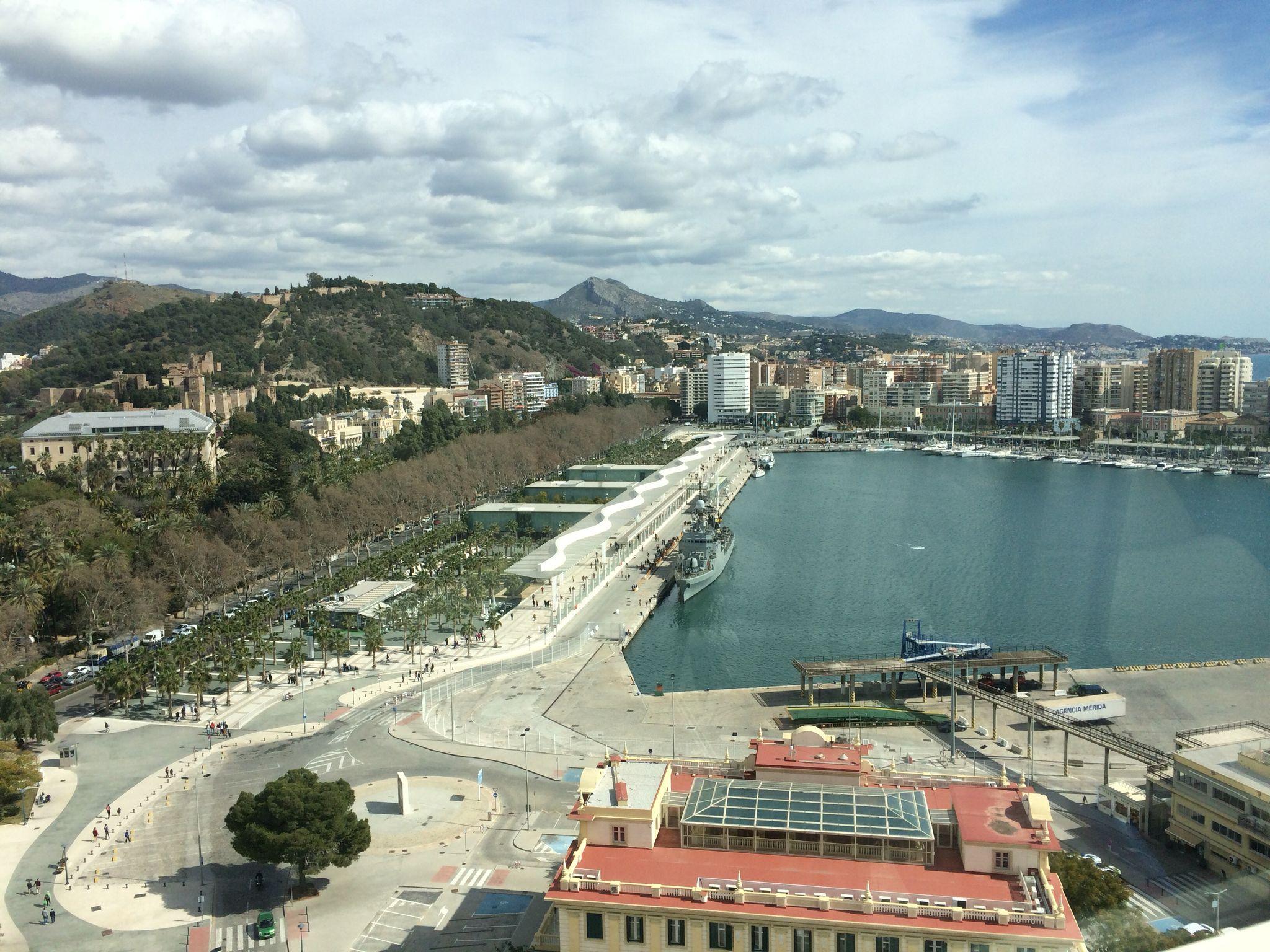 Port of Malaga.