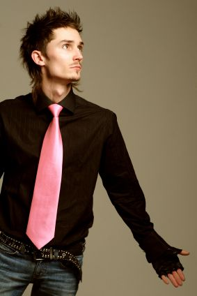 Black Shirt With Pink Tie | Is Shirt