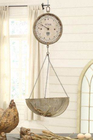 Kitchens · Vintage Reproduction Hanging Produce Scale Clock
