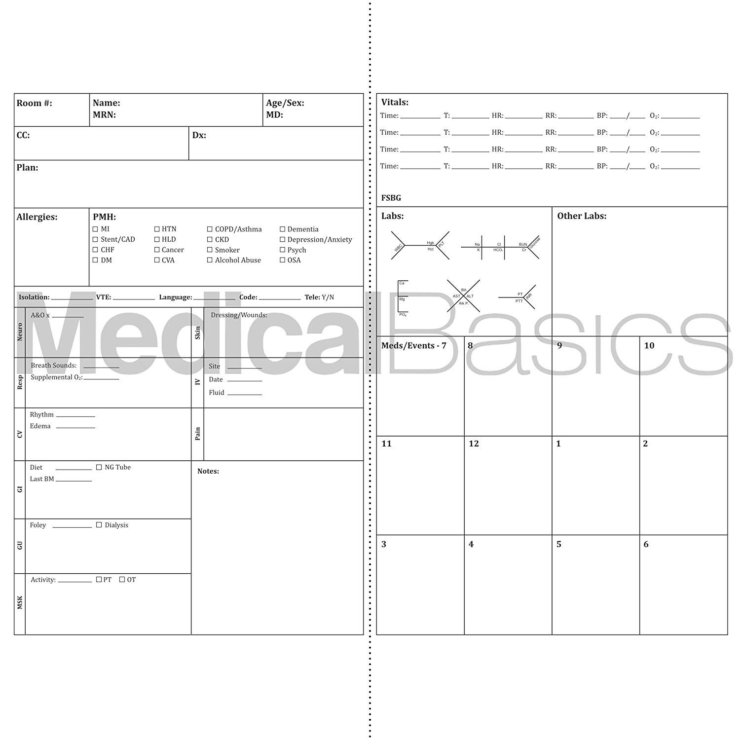 Report Examples Nursing Sheet Template For Nurses Simple