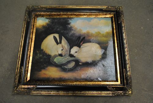 Lovely Painting On Board Gold Gilt Frame Art 20 X 24 Frame 28 X
