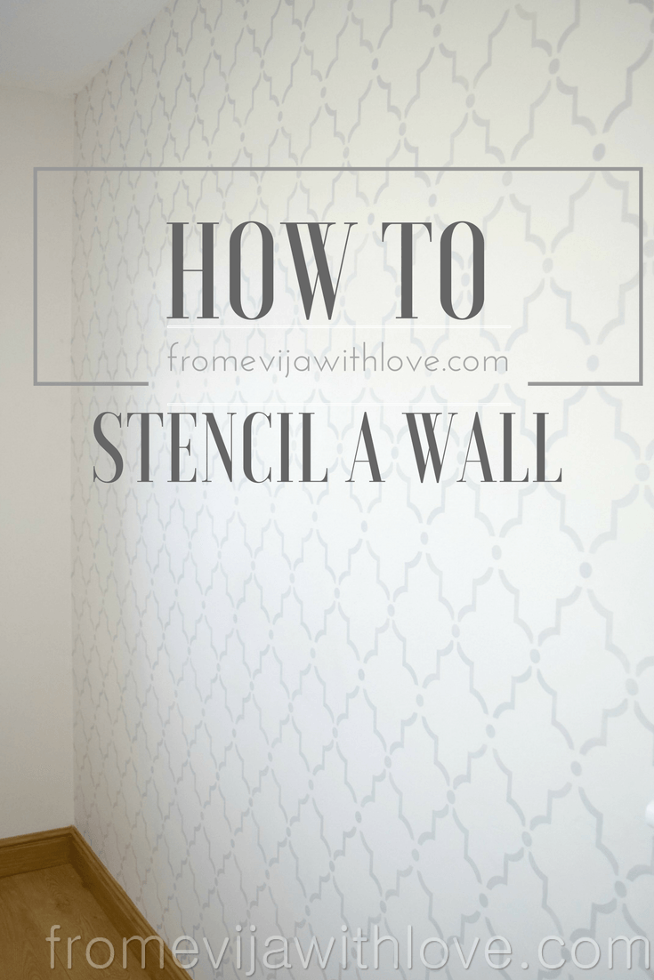You know how much I love to use stencils on furniture. I have not been brave enough to tackle a big project such as a wall until now!