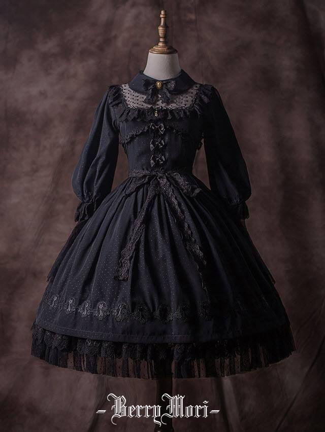 Recommendation: BerryMori 【-Crystal Jade-】 #ClassicLolita OP Dress – Moda damska