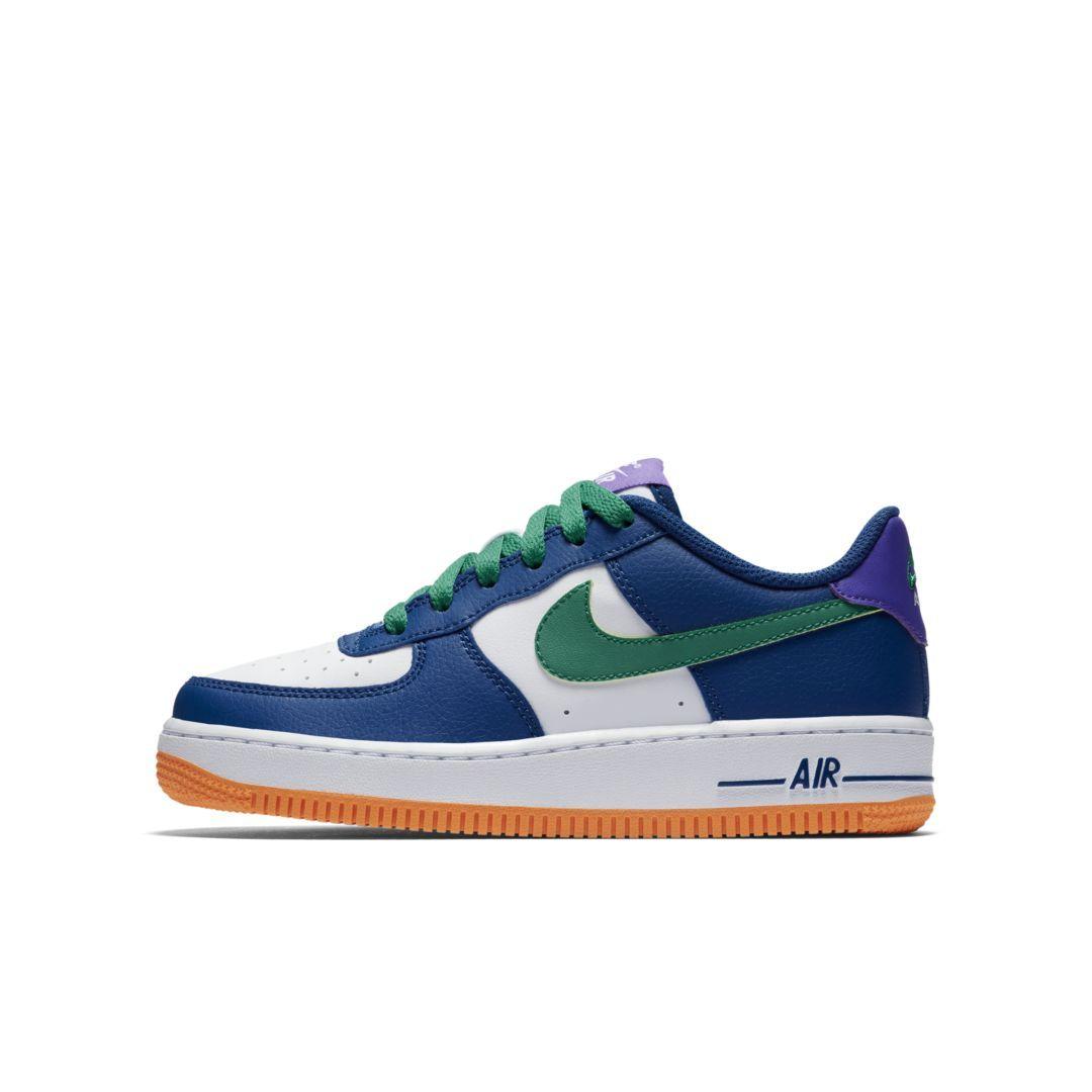 82548ec1d39a Nike Air Force 1 Big Kids  Shoe Size 3.5Y (Gym Blue)