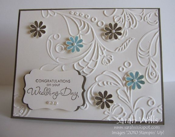 Simple Wedding Card by willsygirl - Cards and Paper Crafts at Splitcoaststampers