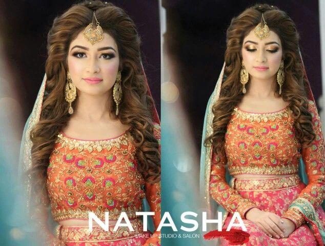 Mehndi Hairstyles : Natasha s salon karachi makeup salons mehndi