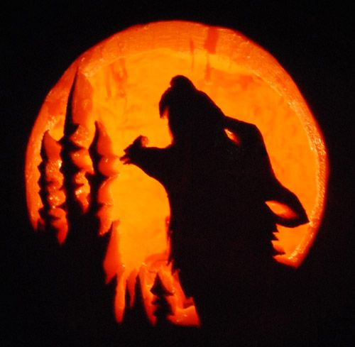 wolf pumpkin carving templates - Google Search | Halloween fun ...