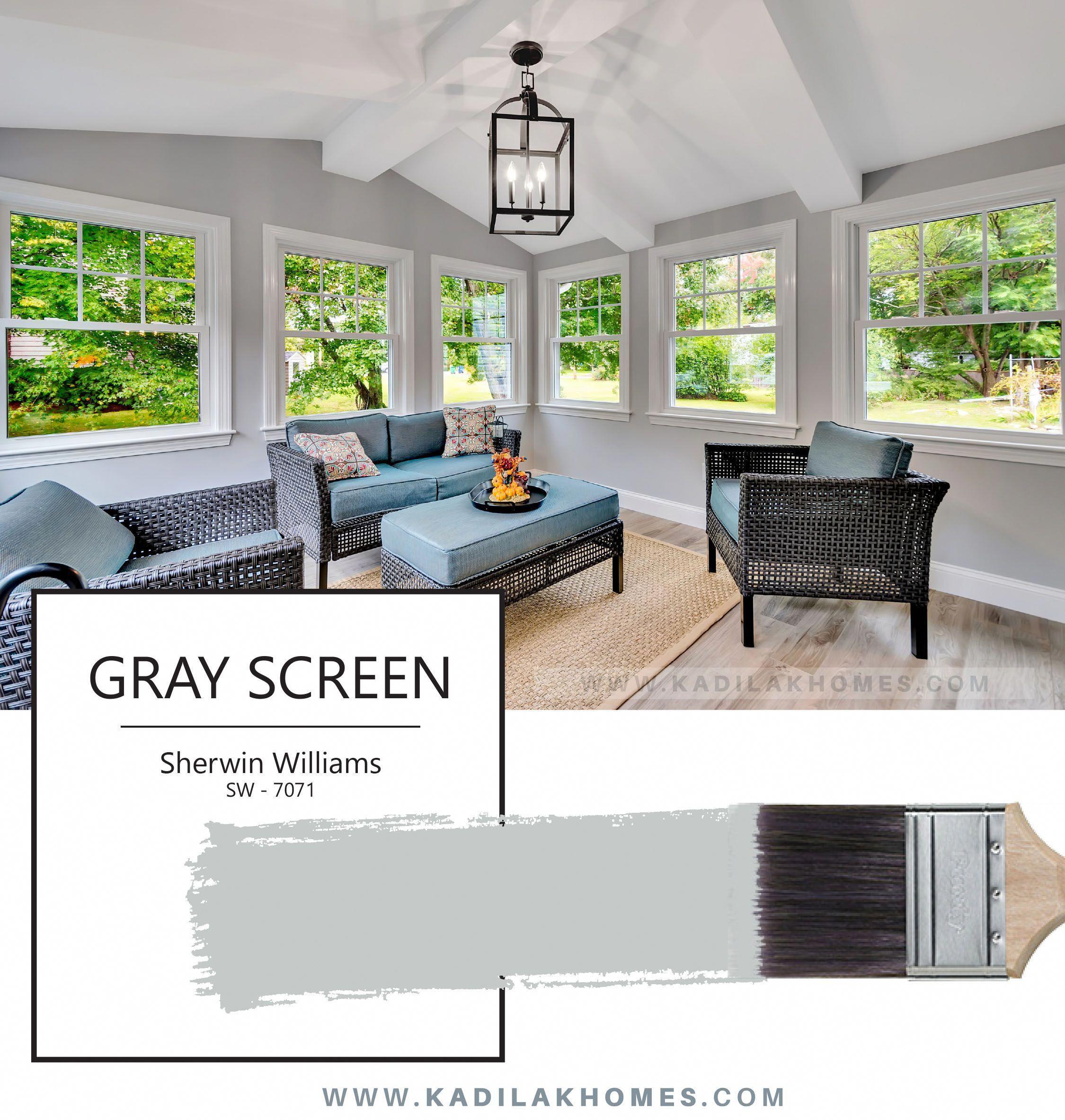 Sw Gray Screen Undertones: Gray Screen By Sherwin Williams SW