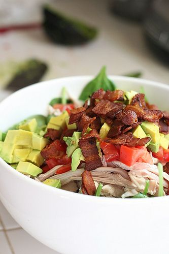 BLT Chicken Salad with Warm Bacon Dressing | perrysplate.com