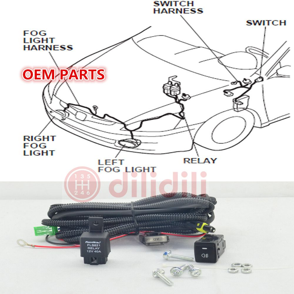 NEW Fog Light Lamp Switch Harness for Nissan Sentra bluebird Sylphy QASHQAI  2 j11 x trail