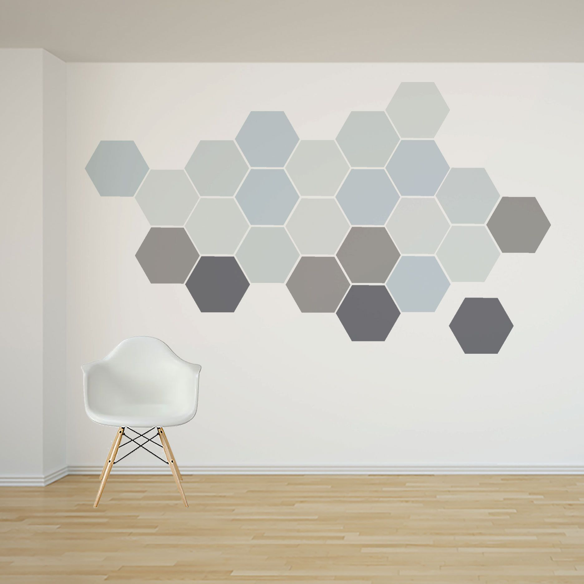 Removable Honeycomb Wall Decal 8 Hexagon Stickers Per Pack Self