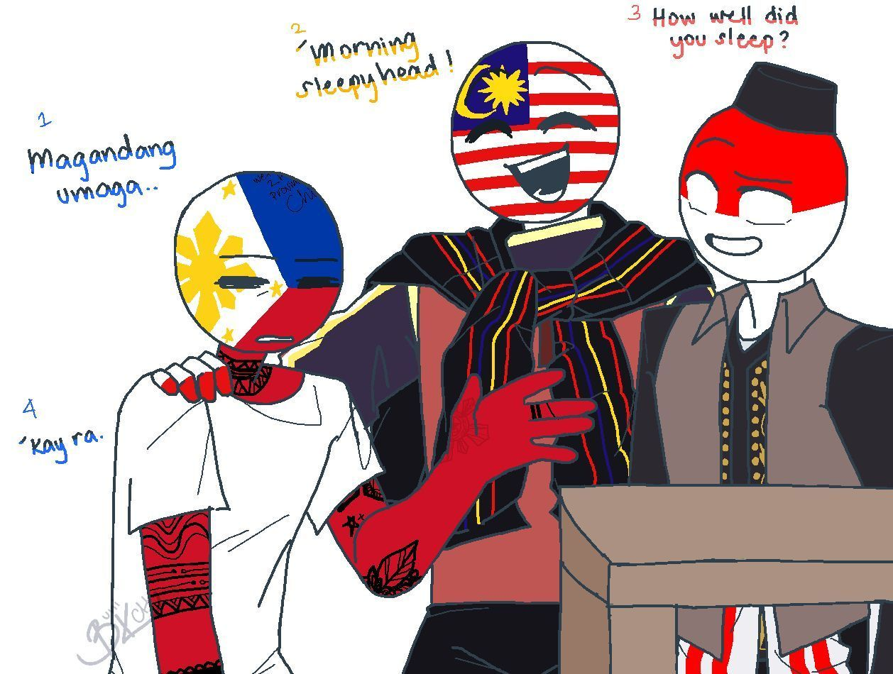 COUNTRYHUMANS GALLERY II Philippines and China comic