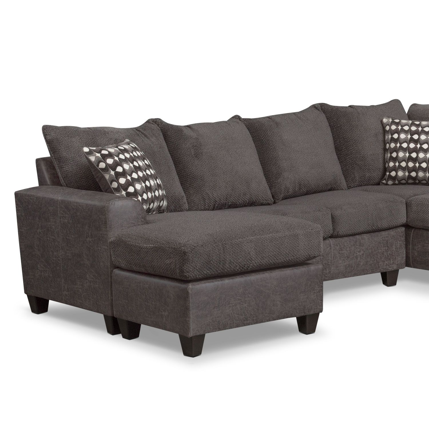 Living Room Furniture Brando 3 Piece Sectional with Modular