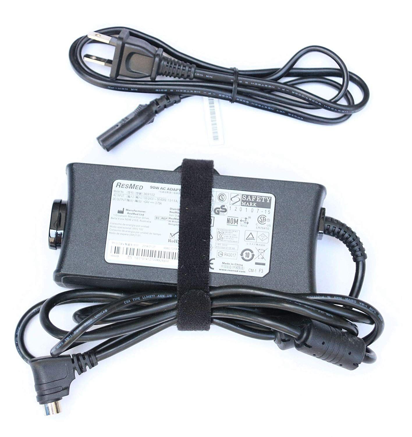 Resmed R360 760 Da 90a24 Cpap 36970 S9 Elite Machine S9 Escape Machines 3 Pin Din Power Adapters Resmed Acdc