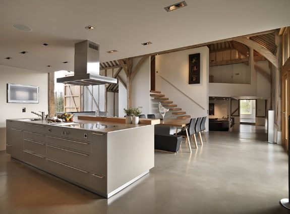 Eco Barn Conversion In Vale Of The White Horse   Bulthaup Kitchen