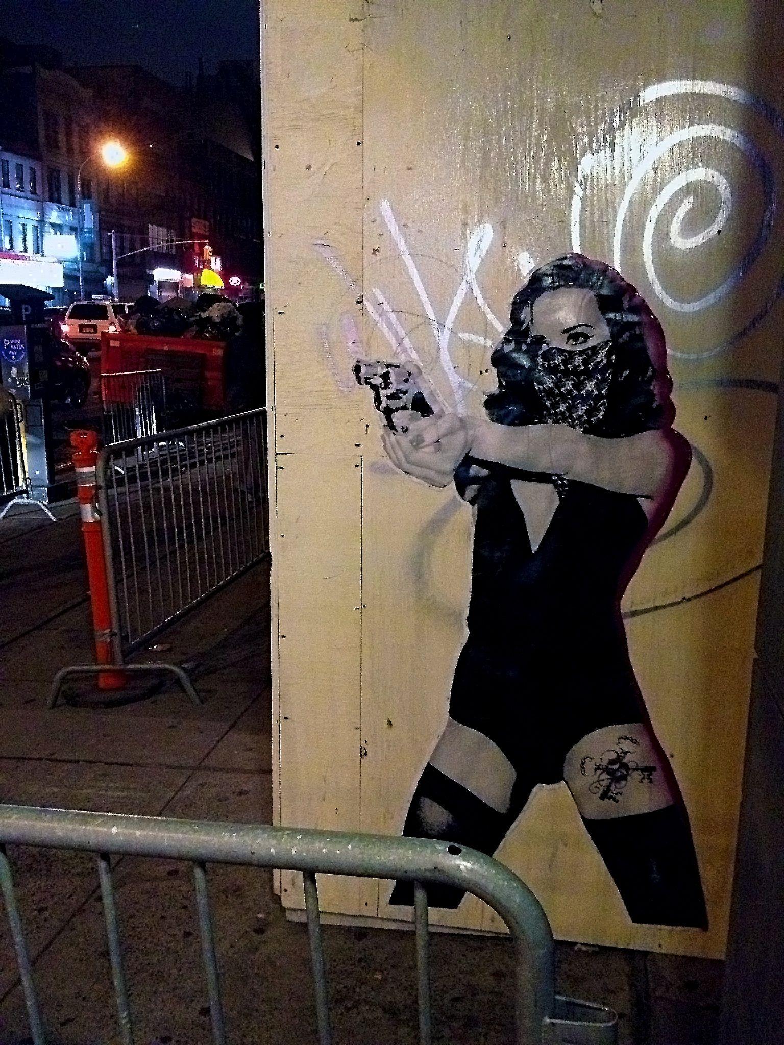 """La Peligrosa,"" on Bowery (LES) by SinXero (SX). Darth"