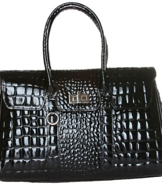 Made in Italia Bag, 100% Leather effect crocodile,  metal closure,  3 internal compartments,  two handles,  inside pocket with zip and mobile phone pocket