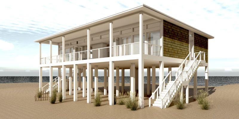 Sandcastle House Plan \u2013 by in 2018 Beach Plans Pinterest House