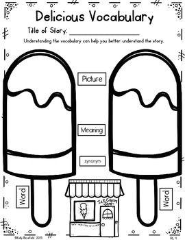 Free Reading Literature Graphic Organizers for Grades 1